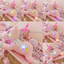 New customized!!!HI CE LED unicorn plush toy for hot sale,LED stuffed toy for Valentine's Day