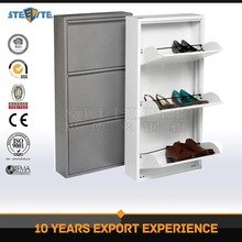 Ready to assembled luxury 3 layer metal shoe cabinet for home