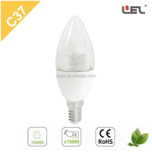 High Brightness housing lamp holder parts 3W C37 LED Bulb E14 Candle Led Bulb Lighting super high lumen edison led bulb lights