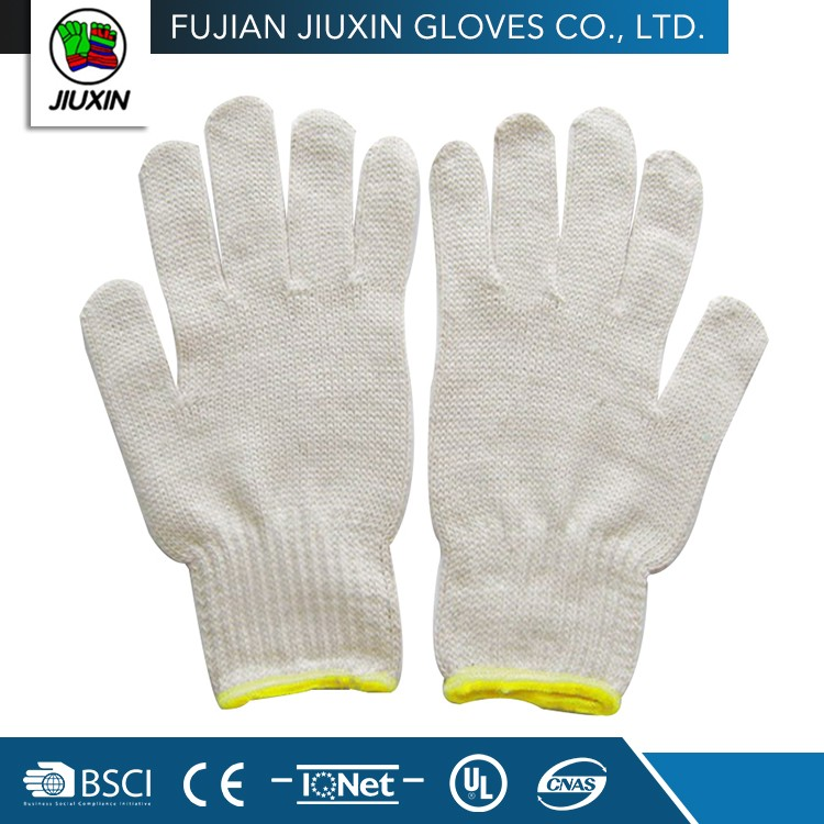 A High Level Breathable Custom-Made Natural white Cheap Cotton Glove