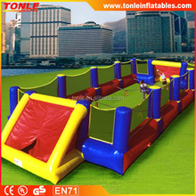 Inflatable table hand soccer game/ inflatable table top football/human soccer game for kids