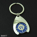 personalized metal tokens shopping cart keychains trolley Coin Keyrings