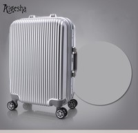 Guangzhou factory ABS PC good quality luggage bags trolley retractable wheels luggage with hard case