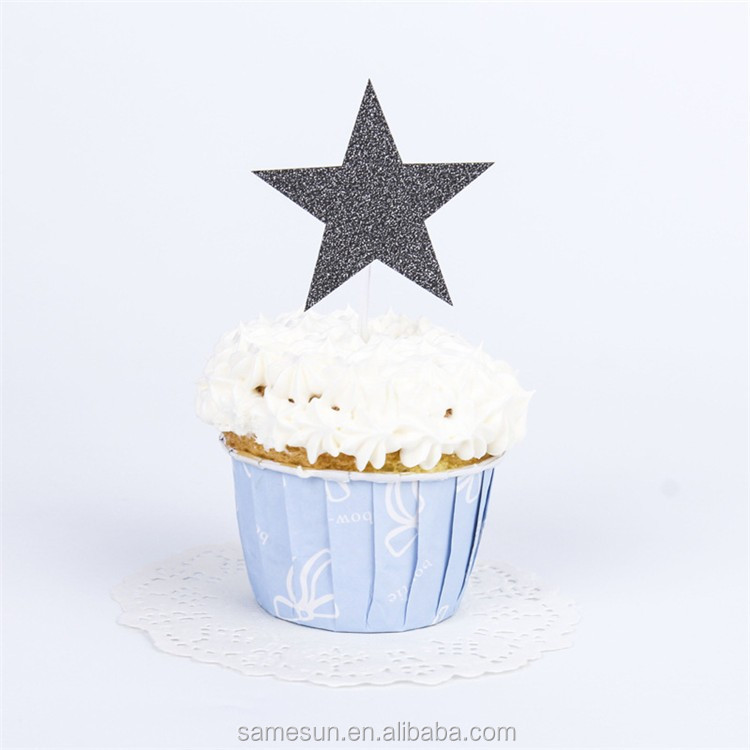 Star laser cut paper cake topper for party decoration
