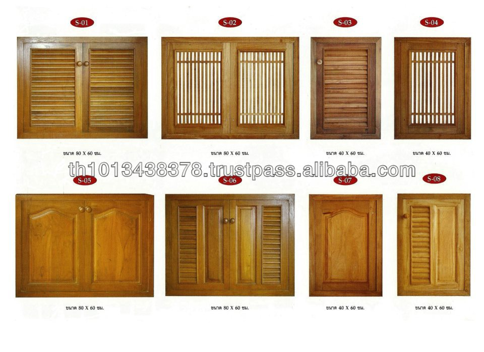 Good Teak cabinet windows from Thailand