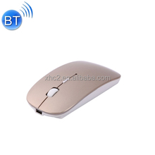 2017 promotional new items MC-008 Bluetooth 3.0 Battery Charging Wireless Mouse for Laptops and Mobile Phones (Gol