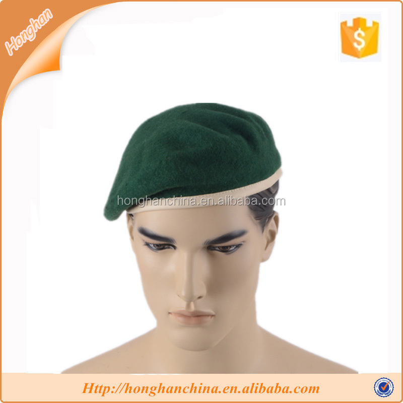 100% wool army military beret hat wholesale manufactures