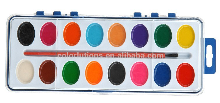 Wholesales Damp-Dry Water Color Paint Set with PP Box Packing, Professional Manufacturer