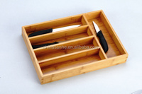 Hot selling natural bamboo kitchen utensil tableware tool box