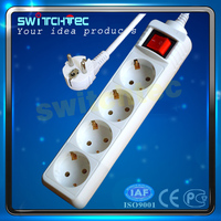 Cheap and good quality CE Approval Schuko Extension Socket, Electric Socket Outlet, Power Strip