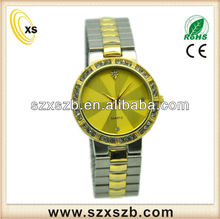 Gold alloy case watch,alloy band cheap metal watch