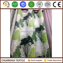New Arrival 100% polyester soft handfeel tree printed blackout fabric for curtain