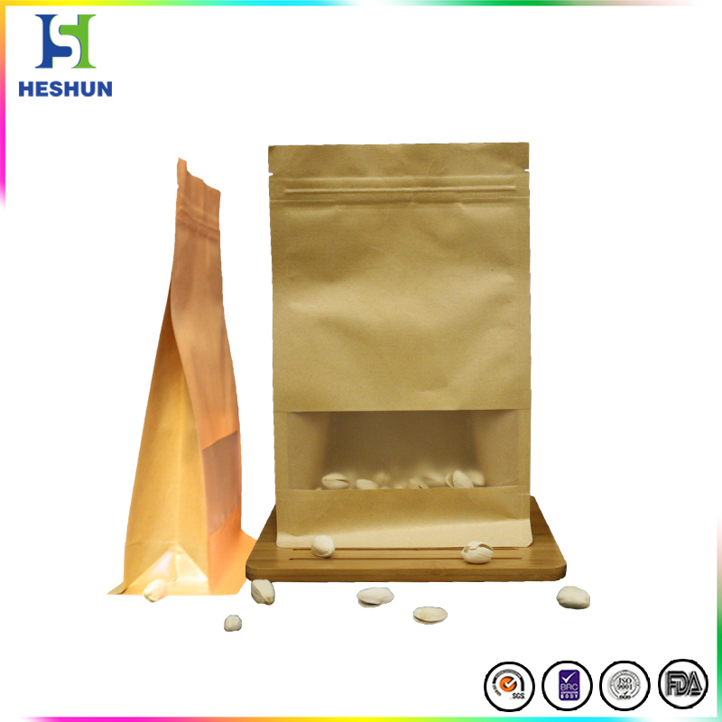 Plastic laminated kraft paper packaging bags china wholesale