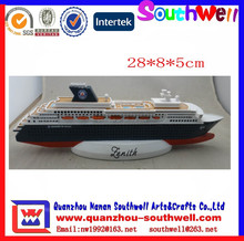 resin 3D cruise ships model for sale for home decoration
