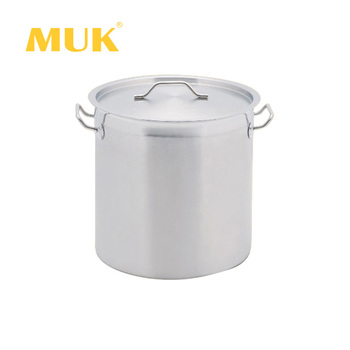 MUK hot sale hotel restaurant professional cookingware set stainless steel tall body storage pot