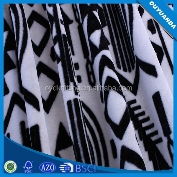 Alibaba Supplier Printed Velvet, Stretch Super Soft Shell Fabric For Sofa