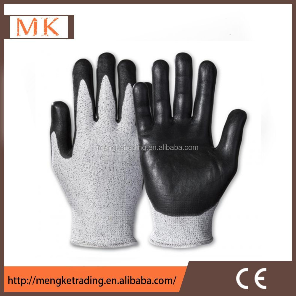 nitrile coated HDPE cut proof gloves