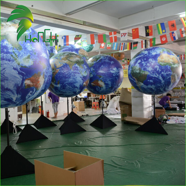 Led Lighting Inflatable Decorative Tripod Balls Led Inflatable Earth World Globe