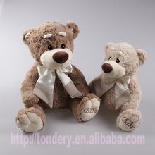 coffee plush teddy bear for the soft baby toys TDL05