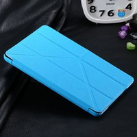 Folded Thin Transformers Silk Leather Case for Apple iPad mini