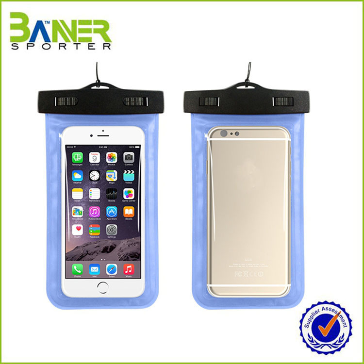 2017 outdoor pvc waterproof cell phone case bag