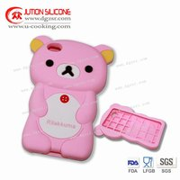 silicon pink funny case for Iphone 4