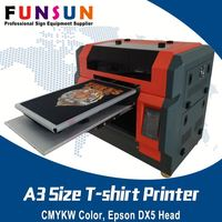 Funsunjet A3 size DX5 head a4/3/2 dtg direct to garment t-shirt printer