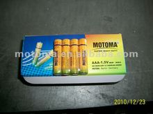 1.5v r03p aaa um4 dry battery for torch made in China