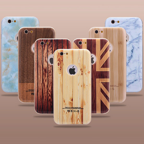 2 In 1 Wood Mobile Phone Cover For Iphone 7 Plus ,For Iphone 7 Wood Case