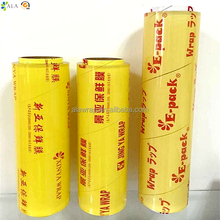 OEM soft color box packing keep fruit fresh plastic food wrap with good stretching