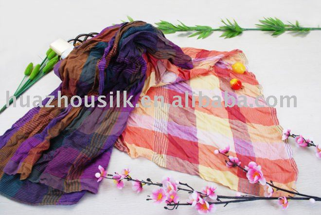 crepe scarves, stripe scarf, woven scarf