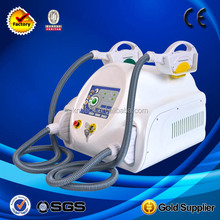 ISO13485 approved 2 handles portable depilacion IPL SHR/shr hair removal beauty salon use