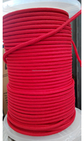 Red color 6 mm 16 strand Diamond Braided Polypropylene Rope