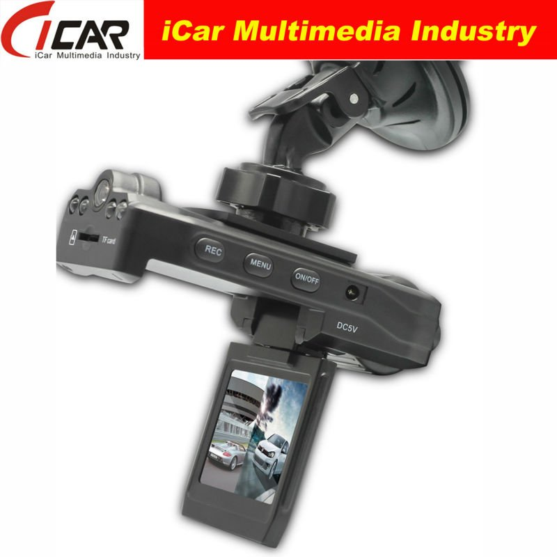 2.0'' TFT LCD dual camera 2 channel car dvr With Night Vision Function 720P