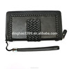 Factory own brand wallet high quality leather wallet business woven pattern wallet