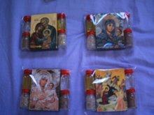 religious hand made wooden icons with 4 elments