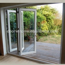 New product white color bi folding door with super doorsill and high quality glass
