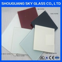 3mm 4mm 5mm 6mm 8mm 10mm 12mm White / Black / Red / Pink Painted Glass Manufacture