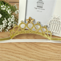 2016 1Y Birthday Crown Baby Infant Girls Elastic Hairband Princess Star Elegant Headband For Korean Kids Girls Hair Decorations