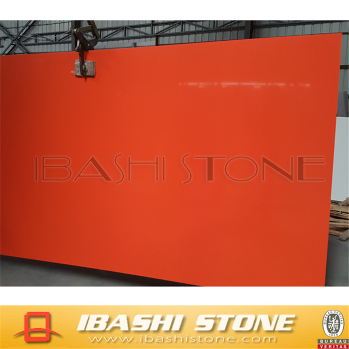 red sparkle quartz stone countertops
