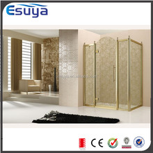 Shanghai SUYA curved type glass 2 sided acrylic shower enclosure/shower screen