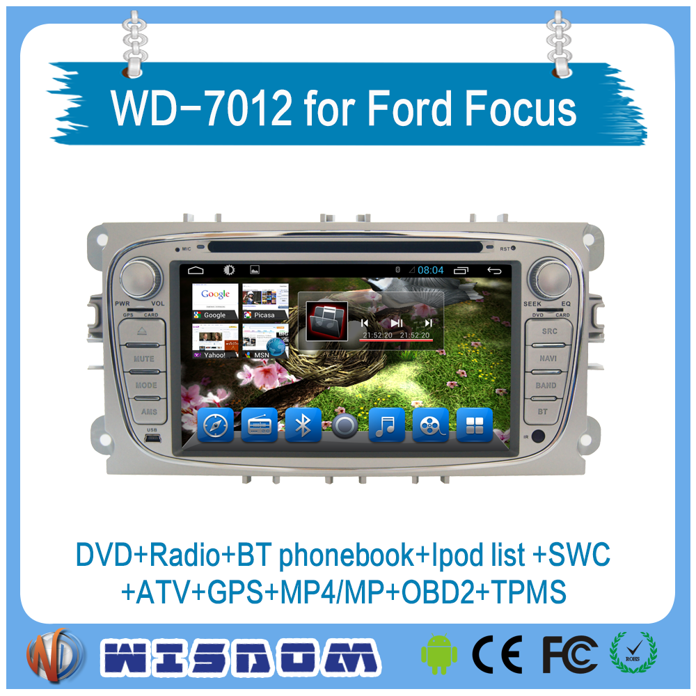 Wisdom oem car radio gps for Ford Mondeo/Focus/S-Max 2008 2009 2010 2011 car multimedia touch screen 7 inch android system maps