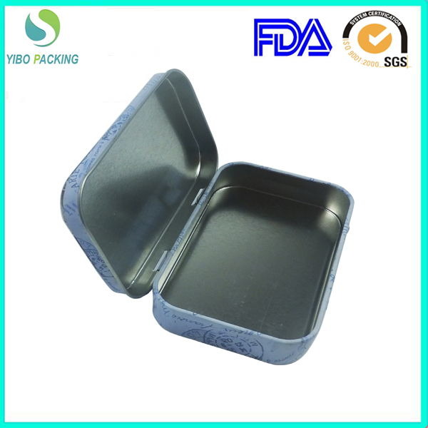 chinese manufacturer mini hinged lid mint tin with food safe metal
