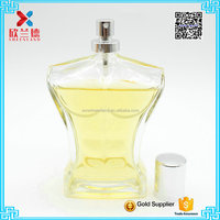 100ml Hot sale sexy man body shaped glass perfume bottle
