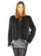 CX-G-A-196D Ladies New Fashion Knitted Natural Mink Fur Coat