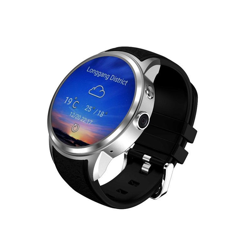 1.39inch AMOLED full round touch screen 720P Camera 3G GPS WIFI MTK6580 Dual Core Android 5.1 Watch Mobile