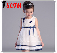 LYQ19 2016 new girls dress summer gauze princess dress 12 year girl without dress
