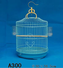 Round decorative metal bird cage made of iron wire