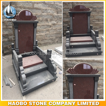 Traditional Indian Red Granite Chinese Style Monument