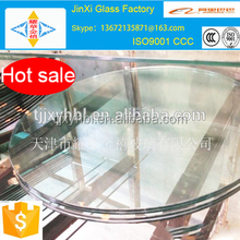 Chinses manufacturer 10mm clear round tempered glass